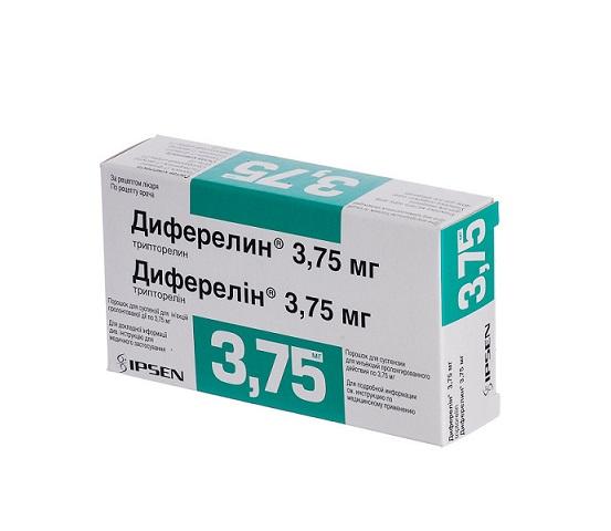 ДИФЕРЕЛИН ПОР. Д/ИН. 3,75МГ ФЛ. №1 + Р-ЛЬ