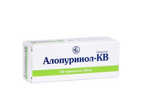 АЛЛОПУРИНОЛ-КВ ТАБ. 100МГ №50