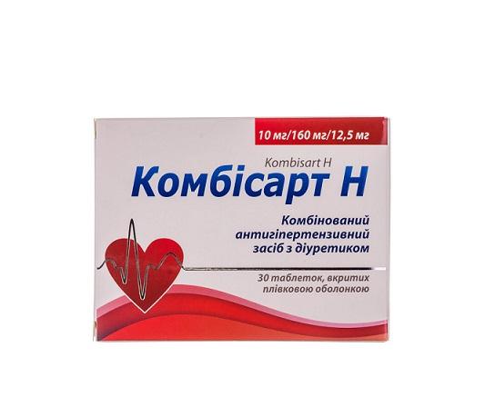 КОМБІСАРТ Н ТАБ. 10/160/12,5МГ №30