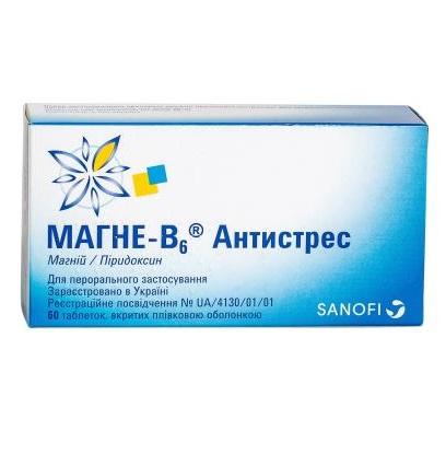 МАГНЕ-В6 АНТИСТРЕСС ТАБ. №60