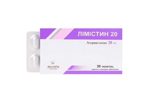 ЛИМИСТИН 20 ТАБ. 20МГ №30