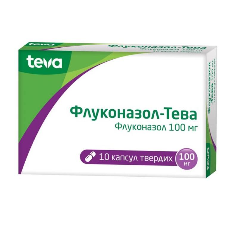 ФЛУКОНАЗОЛ-ТЕВА КАПС.100МГ №10
