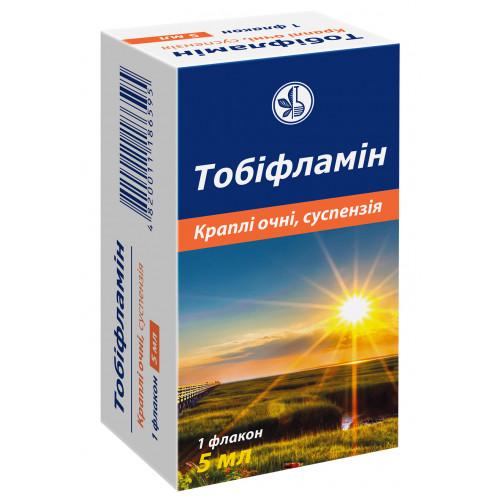 ТОБИФЛАМИН КАПЛИ ГЛАЗНЫЕ СУСП. 5МЛ