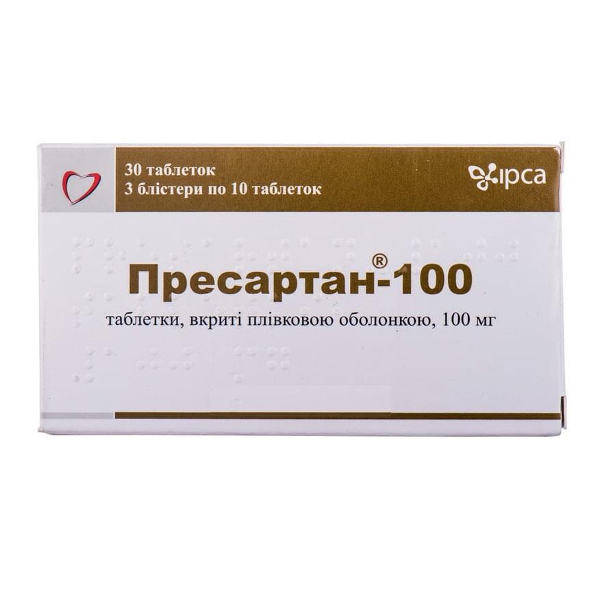 ПРЕСАРТАН-100 ТАБ. 100МГ №30