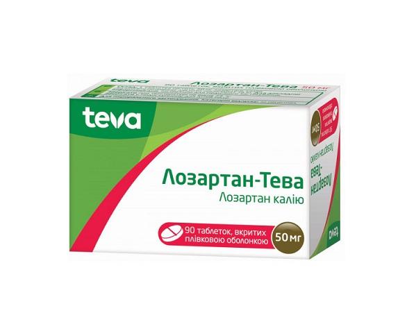 ЛОЗАРТАН-ТЕВА ТАБ. 50МГ №90
