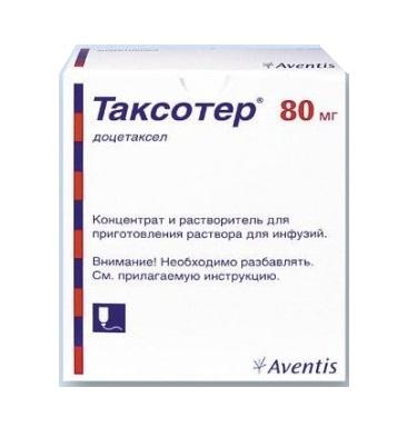 ТАКСОТЕР КОНЦ. Д/ИНФ. 20МГ/МЛ 4МЛ (80МГ) ФЛ. №1