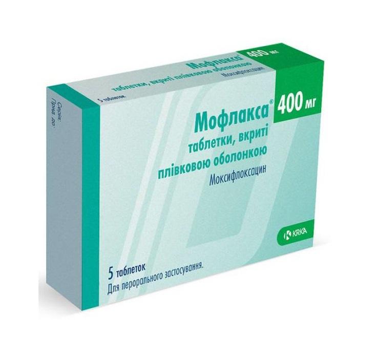 МОФЛАКСА ТАБ. 400МГ №5 без ндс