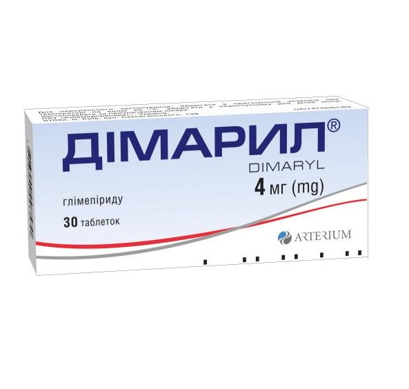ДИМАРИЛ ТАБ. 4МГ №30