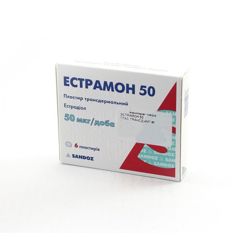 ЭСТРАМОН 50 ПЛАСТЫРЬ ТРАНСД. 4МГ №6