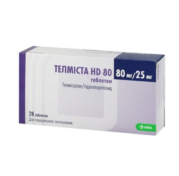 ТЕЛМИСТА HD 80 ТАБ. 80МГ/25МГ №28