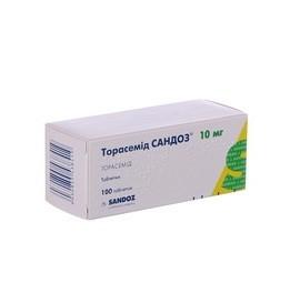 ТОРАСЕМИД САНДОЗ ТАБ. 10МГ №100