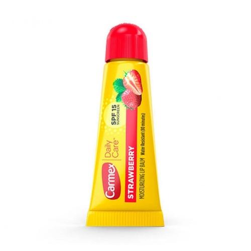 КАРМЕКС Бальзам для губ со вкусом клубники туба SPF15 10гр - фото 1 | Сеть аптек Viridis