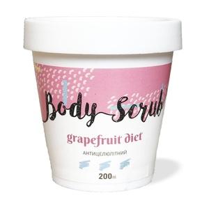 О.Лайф Скраб для тела антицеллюлитный Грейпфрутовая диета 200мл