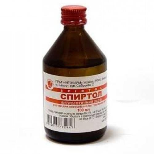 СПИРТОЛ Р-Н 96% 100МЛ без ндс - фото 1 | Сеть аптек Viridis