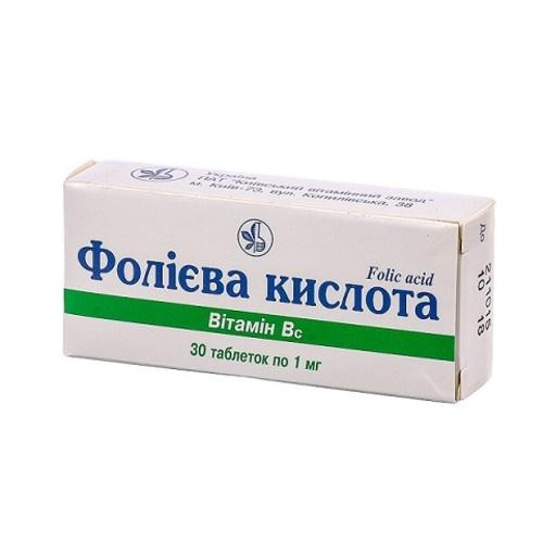 ФОЛІЄВА КИСЛОТА ТАБ. 1МГ №30