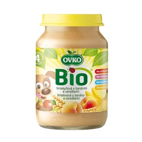 ОВКО Пюре органическое Персик, банан и злаки 190г - фото 1 | Сеть аптек Viridis