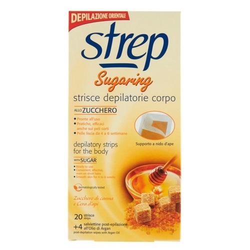 СТРЕП Восковые полоски для депиляции STREP «SUGARING» Коричневый сахар и пчелиный воск 20шт - фото 1 | Сеть аптек Viridis