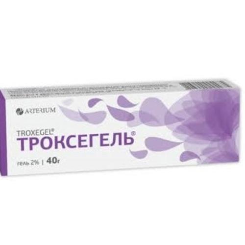 ТРОКСЕГЕЛЬ ГЕЛЬ 2% 40Г - фото 1 | Сеть аптек Viridis