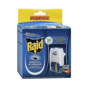 РЭЙД Электрофумигатор с жидкостью 30 ночей от комаров