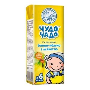 ЧУДО-ЧАДО Сок  Банан - Яблоко с мякотью 200мл
