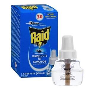 РЭЙД Жидкость 30 ночей от комаров 22мл для электрофумигатора