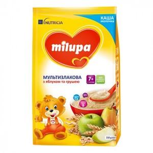 МИЛУПА Каша молочная мультизлаковая с яблоком и грушей  с 7мес. 210г