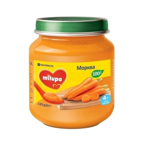 МИЛУПА Пюре овощное Морковь с 4 мес. 125 г - фото 1 | Сеть аптек Viridis