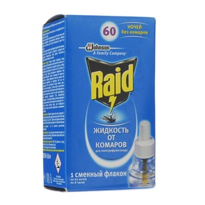 РЭЙД Жидкость 60 ночей от комаров 35мл для электрофумигатора
