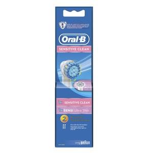 ОРАЛ БИ Насад. д/эл. зуб. щетки ЕВS17 Sens Clean 1шт+EB60 Ultra Thin 1шт