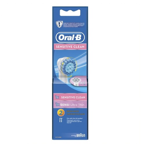 ОРАЛ БИ Насад. д/эл. зуб. щетки ЕВS17 Sens Clean 1шт+EB60 Ultra Thin 1шт - фото 1 | Сеть аптек Viridis