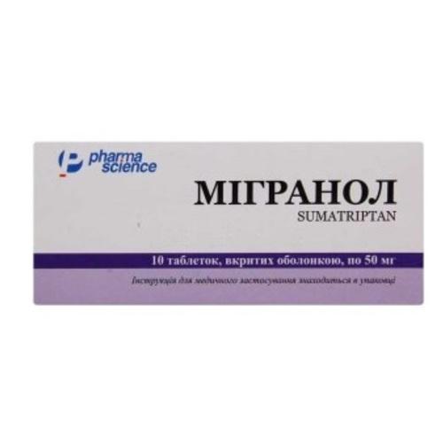 МИГРАНОЛ ТАБ. 50МГ №10 - фото 1   Сеть аптек Viridis