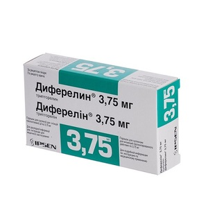 ДИФЕРЕЛІН ПОР. Д/ІН. 3,75МГ ФЛ. №1 + Р-К