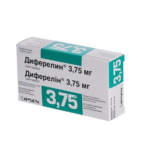 ДИФЕРЕЛИН ПОР. Д/ИН. 3,75МГ ФЛ. №1 + Р-ЛЬ - фото 1 | Сеть аптек Viridis