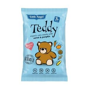 СНЕКИ кукурудзяні з морковою та гарбузом  McLLOYD'S «Ведмедик Тедді» органічні, 30г