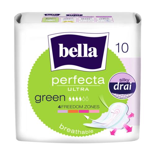БЕЛЛА Прокладки гигиен. Perfecta Ultra Green 10шт - фото 1 | Сеть аптек Viridis