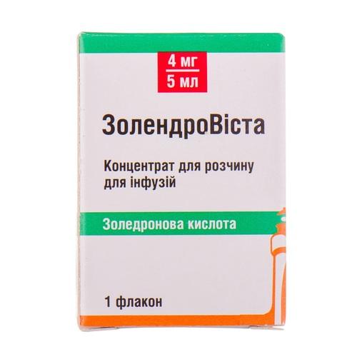 ЗОЛЕНДРОВІСТА Д/ІНФ. 4МГ/5МЛ ФЛ. №1 - фото 1 | Сеть аптек Viridis