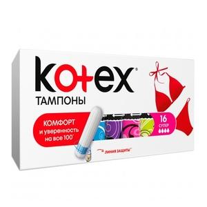 КОТЕКС Тампоны Ultra Sorb Silky Cover super 16шт
