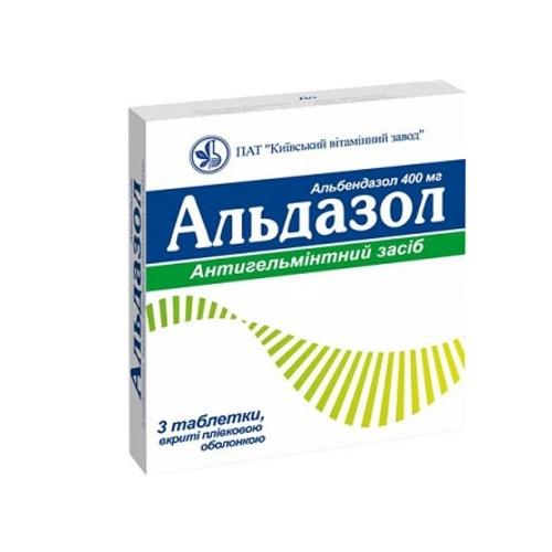 АЛЬДАЗОЛ ТАБ. 400МГ №3