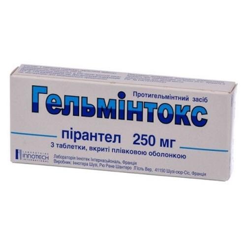 ГЕЛЬМИНТОКС ТАБ. 250МГ №3