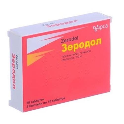 ЗЕРОДОЛ ТАБ.100МГ №30 НДС - фото 1 | Сеть аптек Viridis