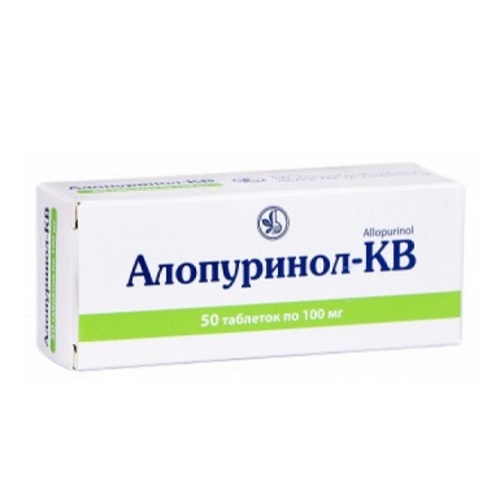 АЛОПУРИНОЛ-КВ ТАБ. 100МГ №50 - фото 1 | Сеть аптек Viridis