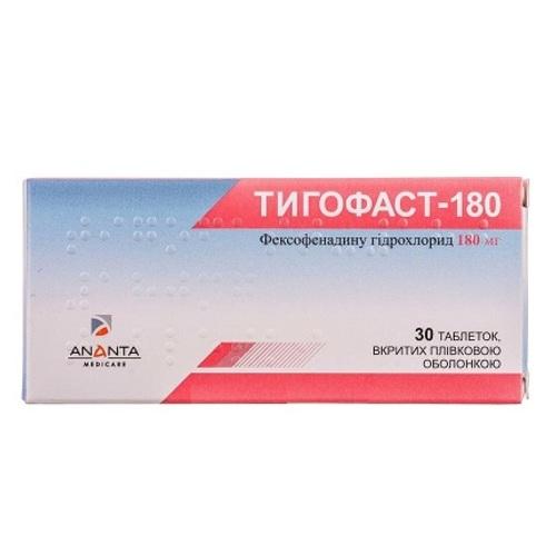 ТИГОФАСТ-180 ТАБ. 180МГ №30 - фото 1 | Сеть аптек Viridis