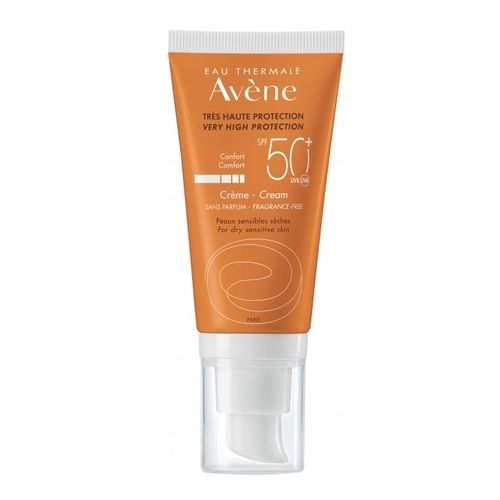 АВЕН Крем солнцезащитный для сухой чувствительной кожи SPF50+ 50мл - фото 1 | Сеть аптек Viridis