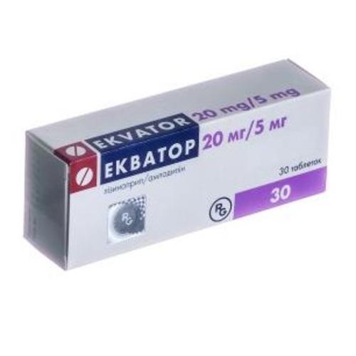 ЭКВАТОР ТАБ. 20МГ/5МГ №30 - фото 1   Сеть аптек Viridis