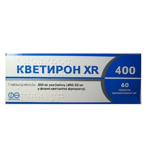 КВЕТИРОН XR ТАБ. 400МГ №60