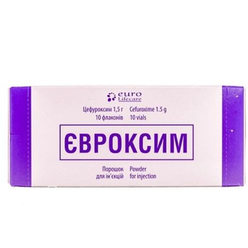 ЄВРОКСИМ ПОР. Д/ИН. 1,5Г ФЛ. №10 - фото 1 | Сеть аптек Viridis