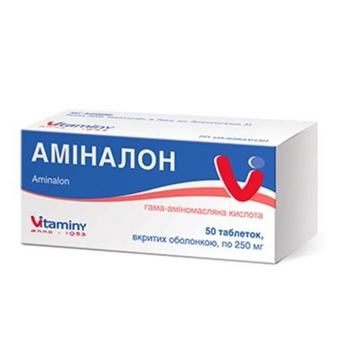 АМИНАЛОН ТАБ. 0,25Г №50 - фото 1   Сеть аптек Viridis