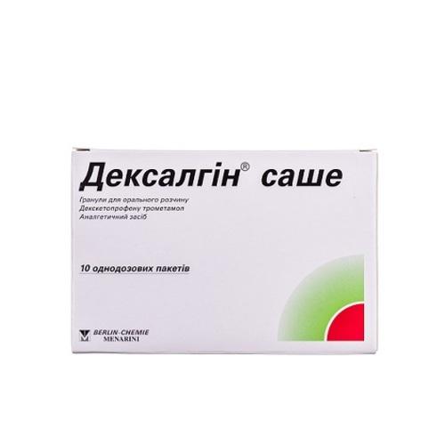 ДЕКСАЛГИН САШЕ ГР. Д/Р-РА 25МГ ПАК. №10 - фото 1 | Сеть аптек Viridis