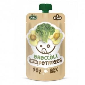 ОВКО Пюре органическое Брокколи-картофель 90г