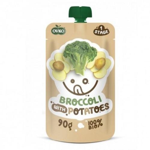 ОВКО Пюре органическое Брокколи-картофель 90г - фото 1 | Сеть аптек Viridis